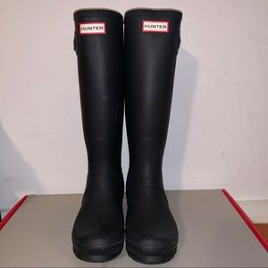 Women's Original Tall Matte Black Hunter Boots